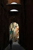 Alley of Siena Stock Photography