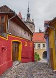 Alley in Sighisoara, Romania. Royalty Free Stock Photos