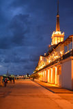 Alley in Sochi next to the seaport by nigh Royalty Free Stock Image