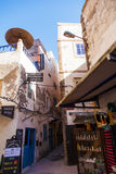 Alley in the souks of Essaouira, Morocco Stock Photo