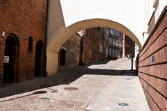 Alley of Spichrze in Grudziadz Poland Stock Photo