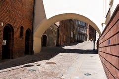 Alley of Spichrze in Grudziadz Poland. Famous historic alley or street of Spichrze (Spichrzowa) in Grudziadz, Poland Stock Photo