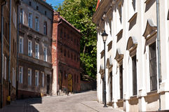Alley of Spichrze in Grudziadz Poland Royalty Free Stock Images