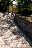 Alley of Spichrze in Grudziadz Poland royalty free stock images