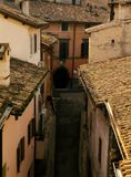 Alley in Spoleto Royalty Free Stock Photography