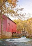Alley spring mill house. Mill house at alley spring missouri in fall Royalty Free Stock Photography