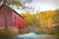 Alley spring mill house. Mill house at alley spring missouri in fall Stock Photo