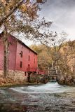Alley spring mill house. Mill house at alley spring missouri in fall Royalty Free Stock Images