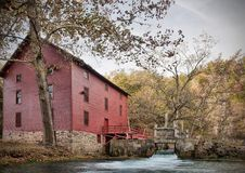 Alley spring mill house. Mill house at alley spring missouri in fall Royalty Free Stock Photo