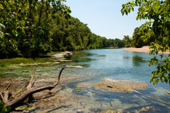 Alley Springs Scenic Bend. Beautiful Alley Springs, Missouri, located in the Ozark National Scenic Riverways Stock Photo