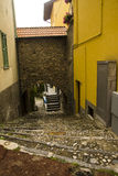 Alley with staircase Varenna, Italy Stock Photo