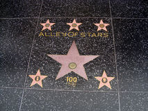 Alley of stars. In Hollywood Stock Images