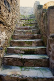 Alley with stone stairs Stock Photography