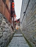 Alley street in old town 5. This is the old alley street view in zhenyuan, guizhou Royalty Free Stock Images