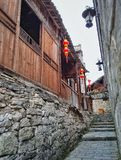 Alley street in old town 6. This is the old alley street view in zhenyuan, guizhou Stock Photos