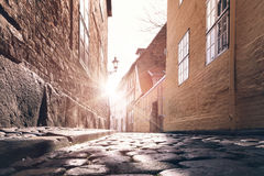 Alley sunset Royalty Free Stock Photography