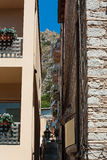 Alley in Taormina, Sicily, Italy Stock Photography