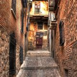 In a alley. Of Toledo (Spain royalty free stock photography