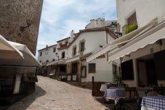 Alley in Tossa de Mar, Catalonia Royalty Free Stock Photo