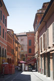 Alley with typical houses in Bologna, Italy Stock Photography