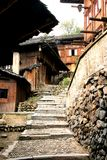 Alley upland. In XiJiang Ancient City, Guizhou, China Royalty Free Stock Photography