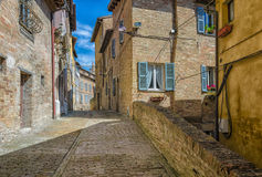 Alley in Urbino Royalty Free Stock Images