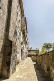 An alley in Valença - Portugal Stock Photography