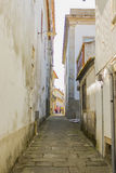 An alley in Valença, Portugal Royalty Free Stock Images