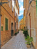 Alley in Valldemossa, Majorca Stock Photos