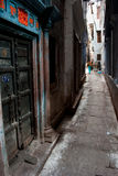Alley in Varanasi Royalty Free Stock Photo