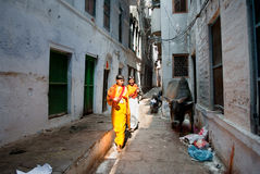 Alley in Varanasi Stock Image