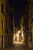 Alley in Venice at night. Dark alley in Venice at night Royalty Free Stock Images