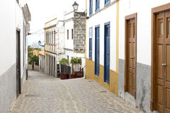 Alley in a village on Gomera island, Spain Royalty Free Stock Photo