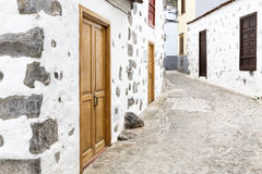 Alley in a village on Gomera island, Spain Royalty Free Stock Images