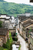 Alley. The alley in village.This photo was taken in The Taiji village,Jixi County (in Anhui Province),china.Photo taken on:Jun 14th,2015 stock photography