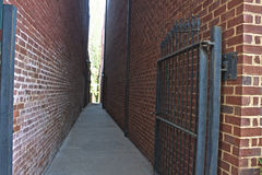 Alley in Warrenton, Virginia. Warrenton is located in Fauquier County Royalty Free Stock Photography