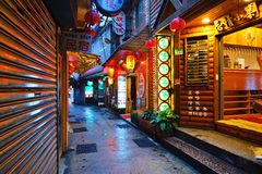 Alley Way in Jiufen, Taiwan Royalty Free Stock Photography