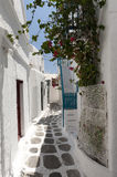 Alley Way Mykonos Greece. On a summers day Royalty Free Stock Photo