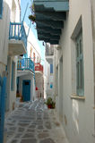 Alley Way in Mykonos, Greece royalty free stock image