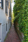 Alley With Brick Pavers Royalty Free Stock Photos