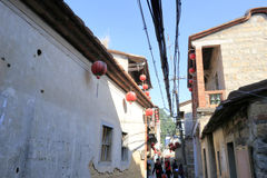 Alley of xiacheng village, houxi town Stock Images