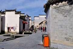 The alley in Xidi Village Royalty Free Stock Photo
