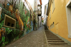 Alley in Zurich Royalty Free Stock Photo
