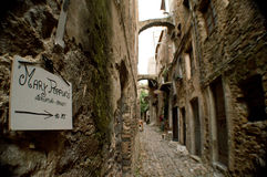 Alleys of Bussana Vecchia Stock Image