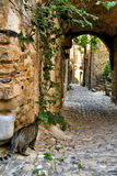Alleys of Bussana Vecchia Stock Images