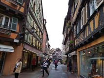 Alleys of Colmar, Alsace, France royalty free stock image