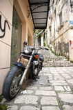 Alleys in Corfu Royalty Free Stock Photography