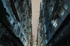 Alleys between the old apartments in Hong Kong Royalty Free Stock Image