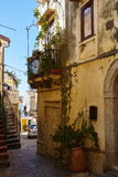 Alleys in the old town of pizzo Stock Photography