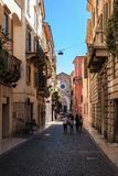 In the alleys of Verona, Veneto, Italy royalty free stock images